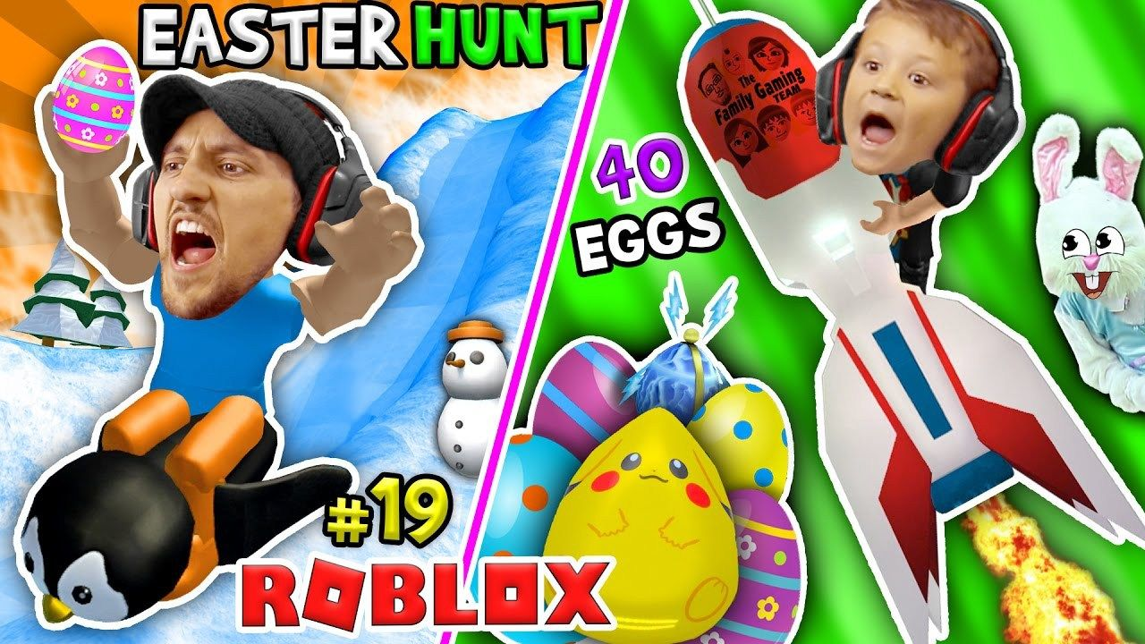 Roblox Egg Hunt 2017 40 Lost Eggs Fgteev Happy Easter Bunny