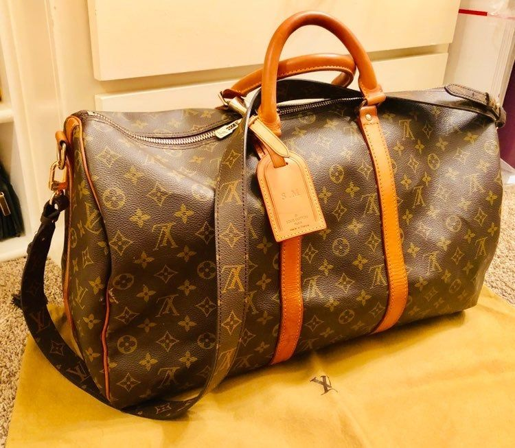 Authentic Lv Duffle Bag In Good Condition Vintage See Pictures Few Water Mark Stains On Vachetta But Not Canvas Duffel Bag Louis Vuitton Luggage Duffle Bag