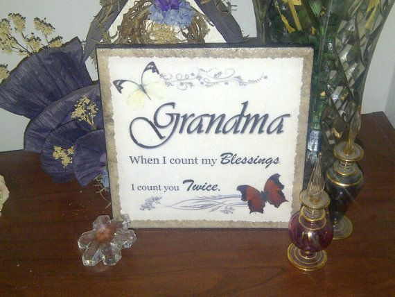 Decoupage Ceramic Tile 6x6 Grandma Theme by SapphireCustomPhotos, $16.00