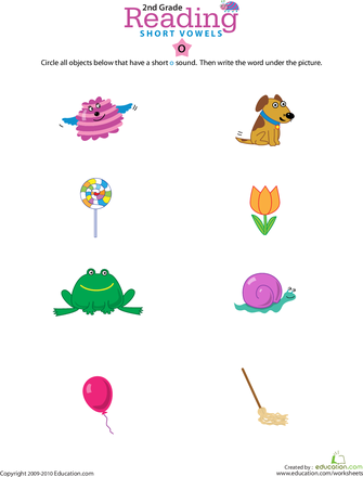 Reading Readiness: Short | Worksheets, Short vowels and School