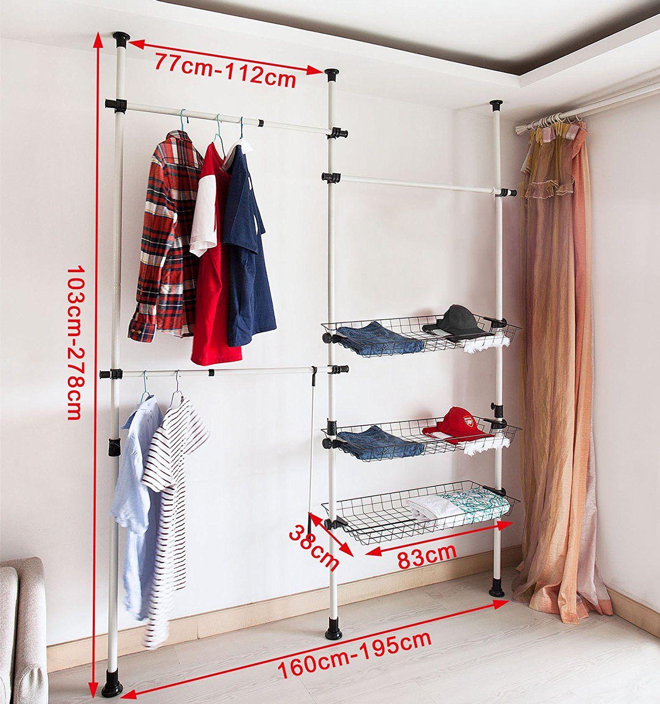 Teleskop Garderoben Kleiderschrank System Kleideraufbewahrungssystem
