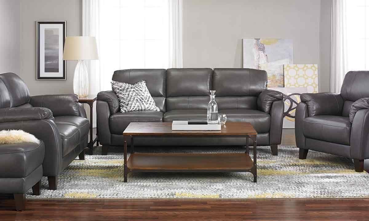 Tremendous Violino Classico Pewter Genuine Leather Sofa Haynes Pdpeps Interior Chair Design Pdpepsorg
