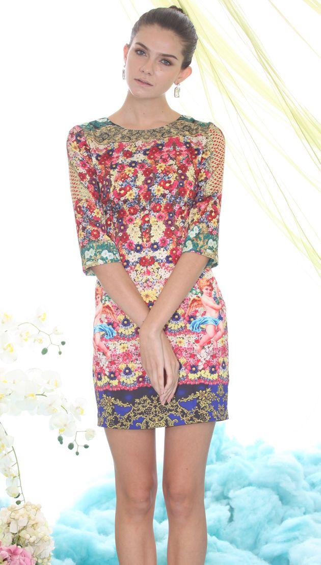 Floral Angel Print Dress | Clothing <3 | Pinterest | Lindo ...