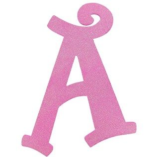 This Hot Pink Glitter Letter A Is Perfect For Personalizing Your Space It Features A Curly Font And Is Loaded With Glitter Sure To Add A Touch Of Whimsy T