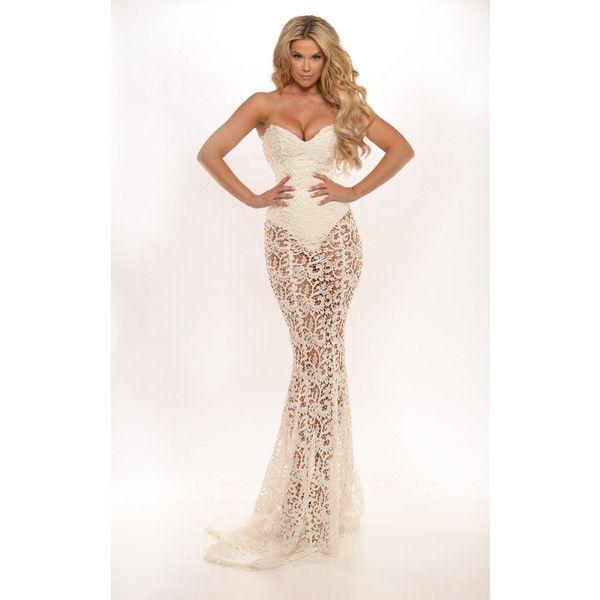 Portia & Scarlett Australian Designer Bella White Lace Formal Gown ...