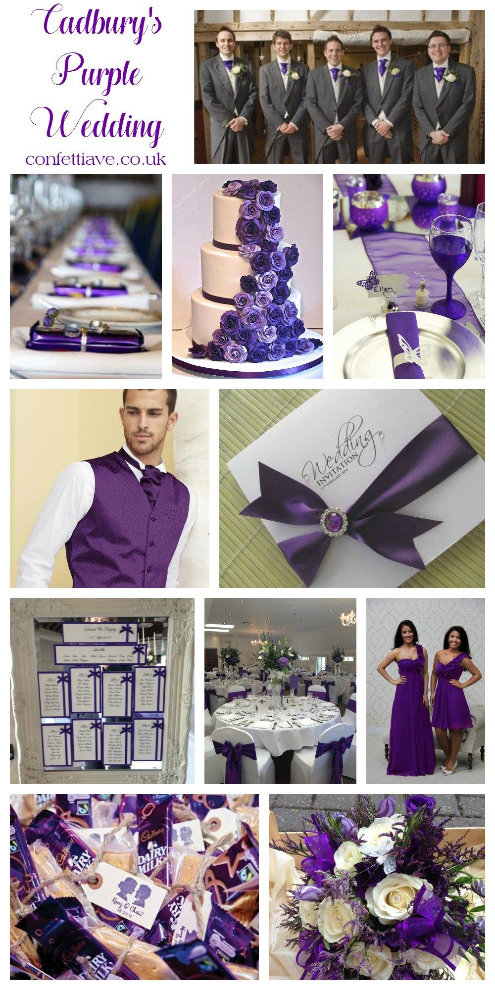 cadburys purple wedding colour scheme mood board | Свадебный ...