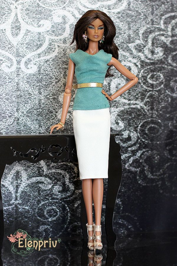 ELENPRIV green ultrasuede top for Fashion royalty FR2 and similar body size dolls. by elenpriv on Etsy