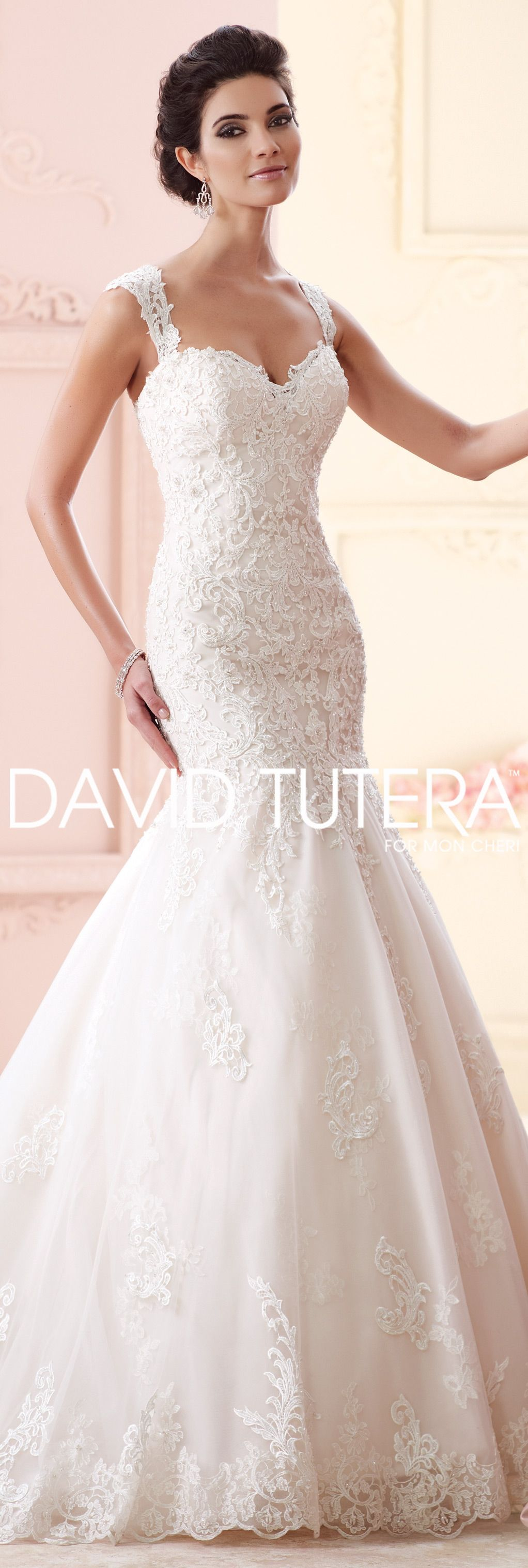 The David Tutera for Mon Cheri Fall 2015 Wedding Gown Collection - Style  No. 215261 Maggie  laceweddingdresses efb5a525d
