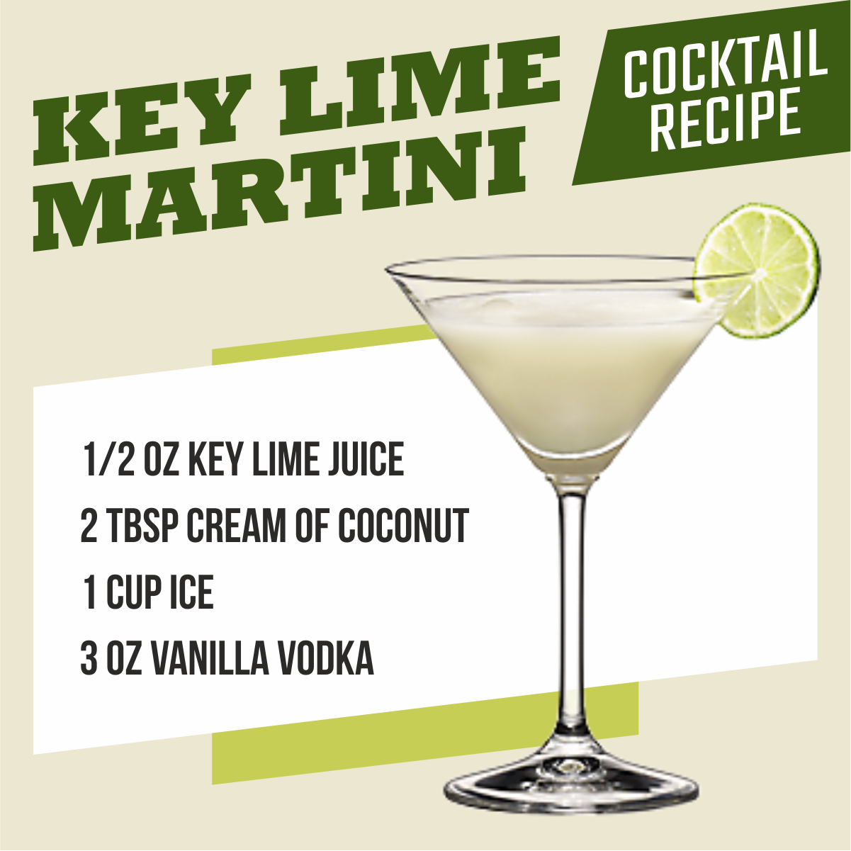 Try This Easy Delicious Key Lime Martini Recipes And Take