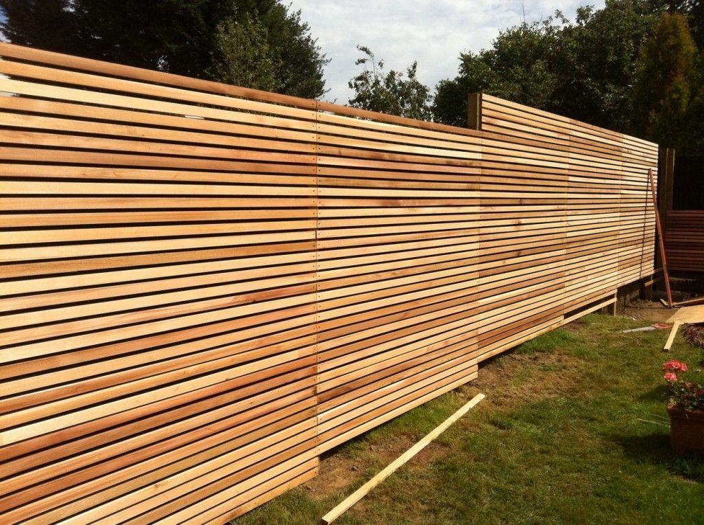 Western Red Cedar Slatted Screen Garden Fence Pinterest