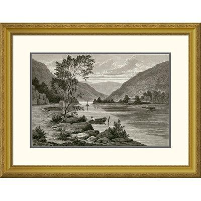 "Global Gallery 'Ramapo River' Framed Painting Print Size: 24.77"" H x 32"" W x 1.5"" D"