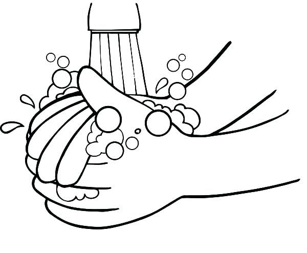 Hand Washing Coloring Page Pages Vector Of A Cartoon Guy On Germs Higiene Das Maos Lavar As Maos Educacao Infantil