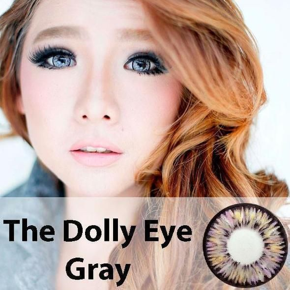 COLORED CONTACTS DOLLY EYE GRAY #coloredeyecontacts