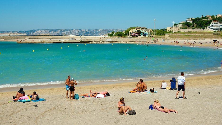 Prado Beach Marseille Tourism Media Plage Marseille Ville