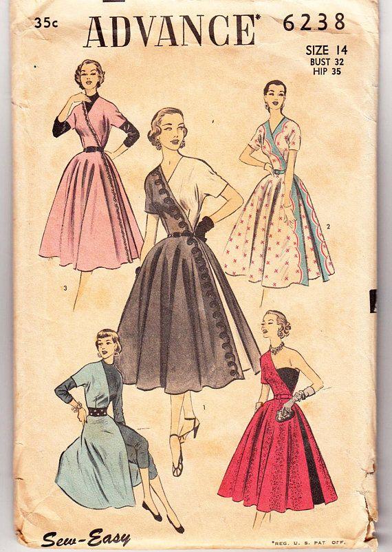RARE 1950's Vintage Sewing Pattern Ladies' Dress