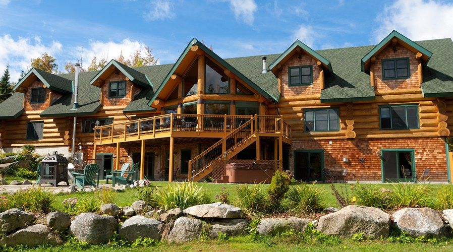 Bear mountain lodge new hampshire bed and breakfast white for New hampshire log cabins