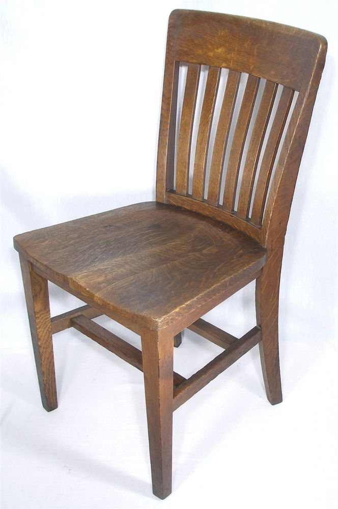 antique b l marble arts u0026 crafts mission tiger oak wood office desk side chair