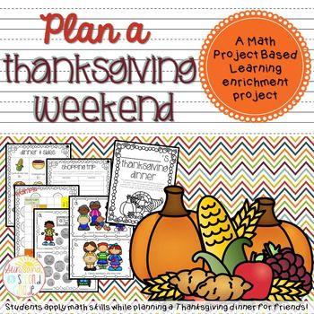 Plan Thanksgiving Weekend - Cumulative Math PBL Enrichment Project ...