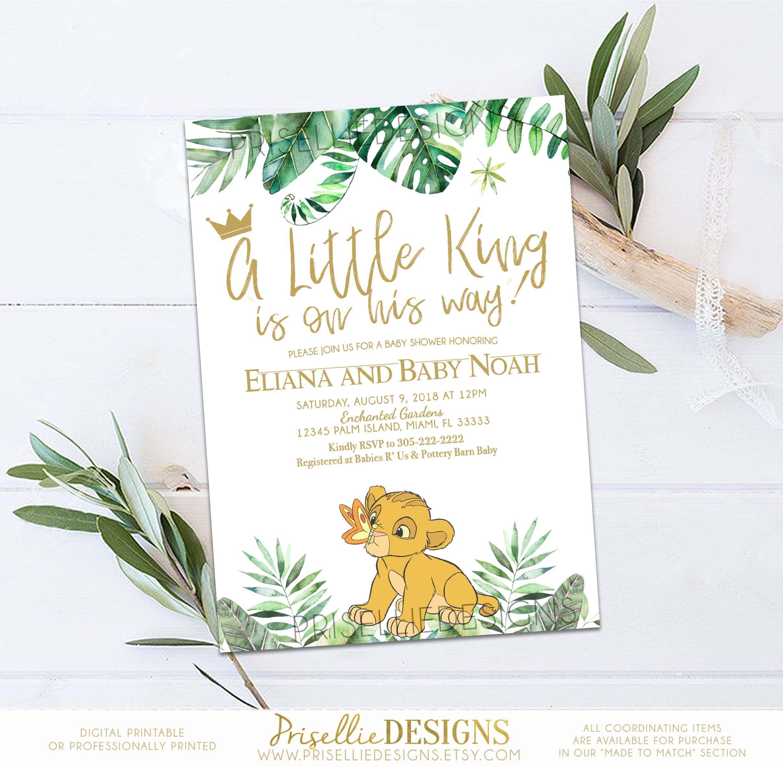 Simba Baby Shower Invitation Lion King