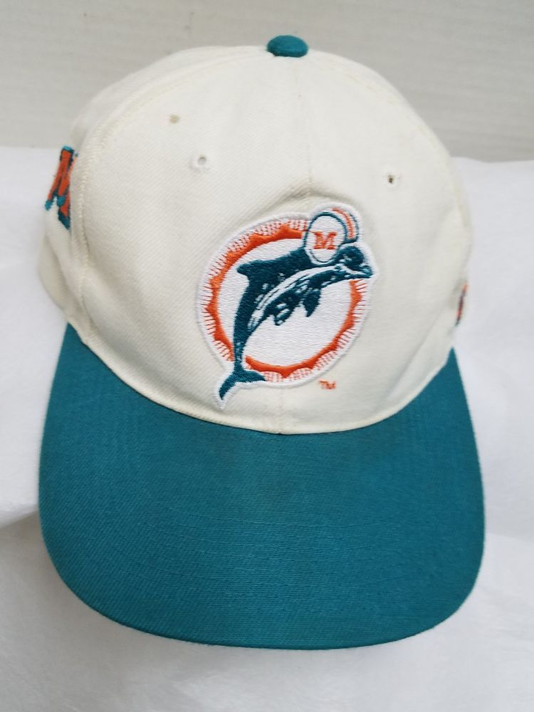 huge selection of 16214 4b278 RARE Vintage NFL MIAMI DOLPHINS Florida Hat Cap Pro Line DIRTY Wool Blend   ProLIne  MiamiDolphins