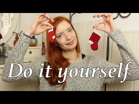 kleines Weihnachtssöckchen DIY Deko - YouTube