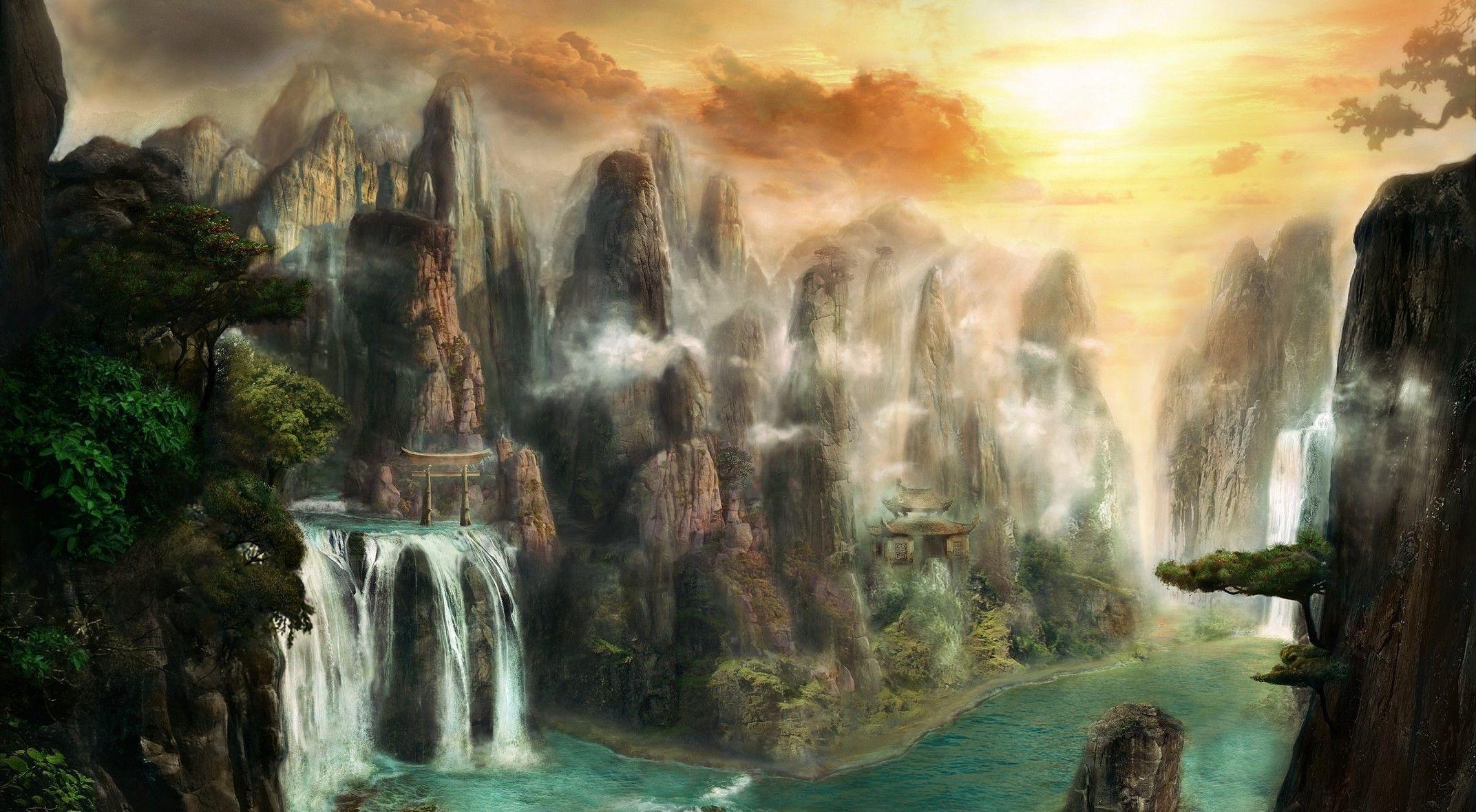 Fantasy Landscape Wallpapers Hd Free Dowwnload Fantasy Landscape Digital Art Fantasy Landscape Wallpaper
