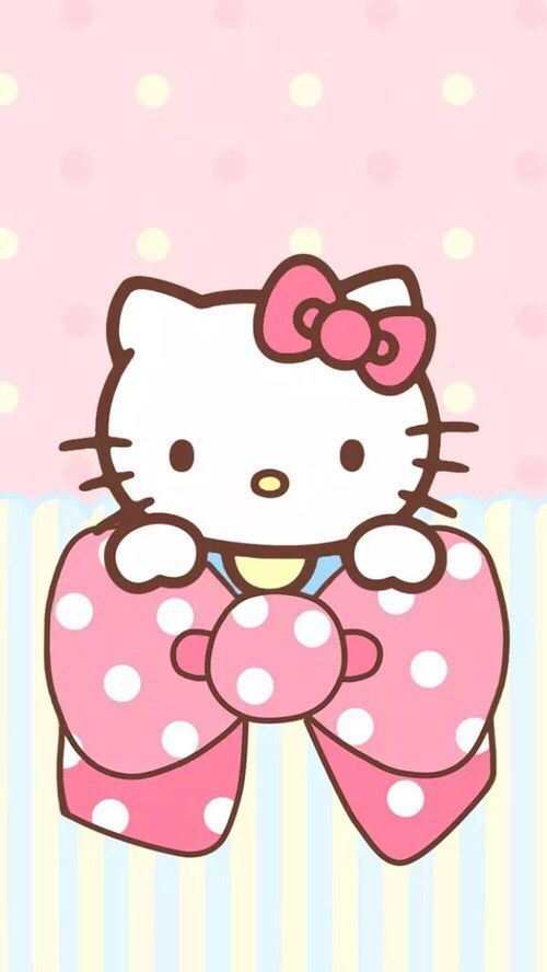Hellokitty Hello Kitty Pink White Wallpaper Wallpapers Hd
