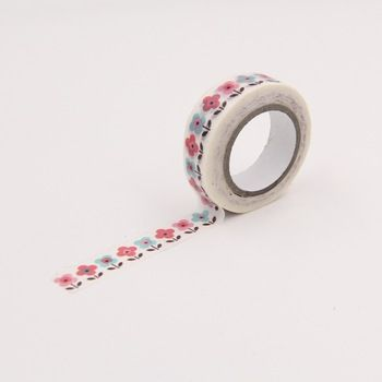 Petite fleur papier Washi rubans de masquage pour emballage cadeau Scrapbooking bricolage artisanat journal Stickers décoratifs autocollants