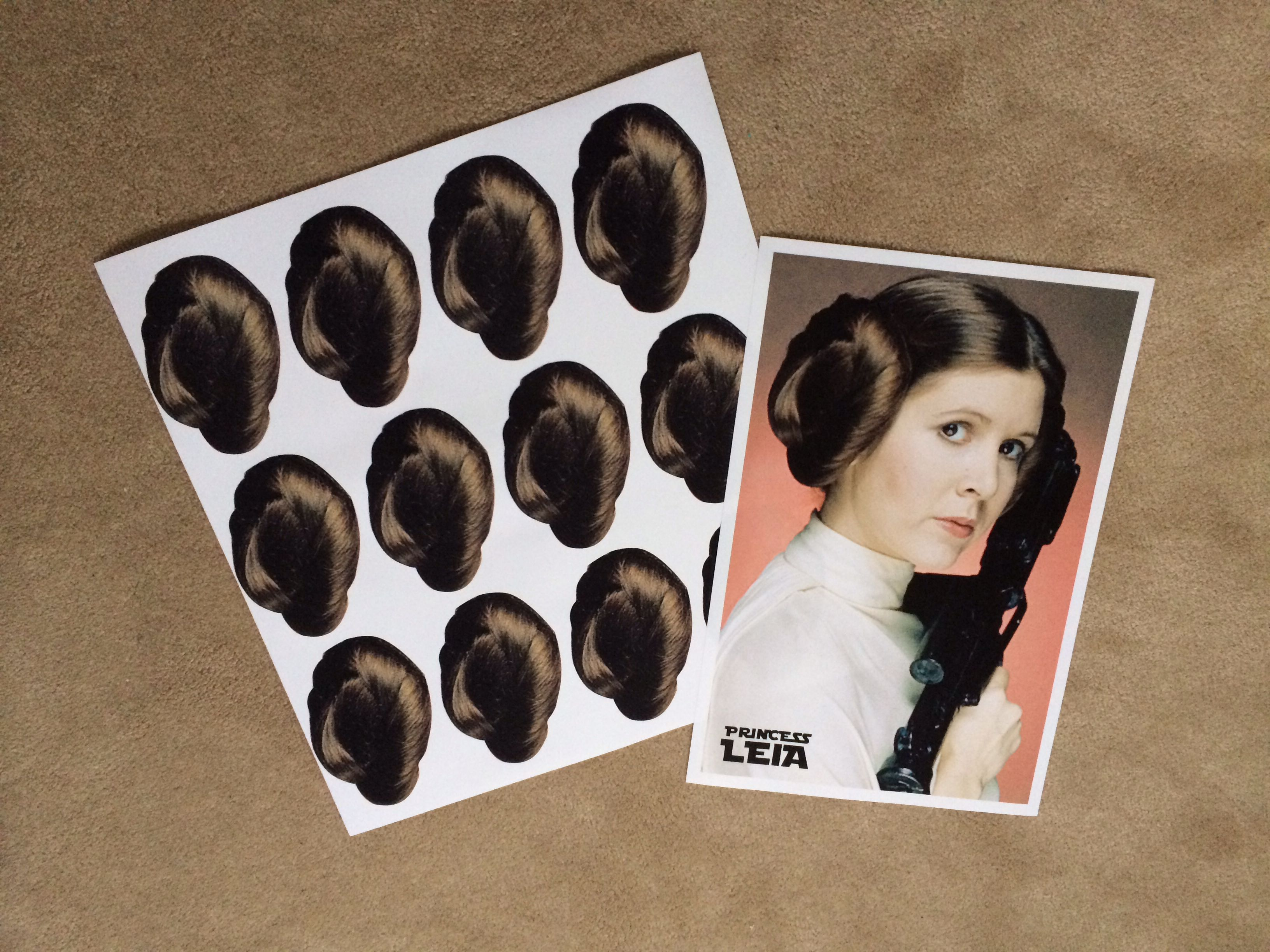 Pin the bun on Princess Leia\