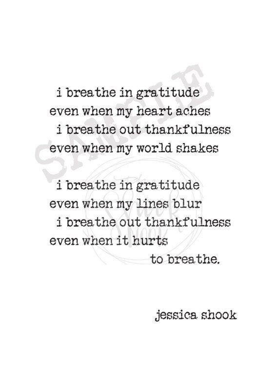 Poems Of Gratitude 1