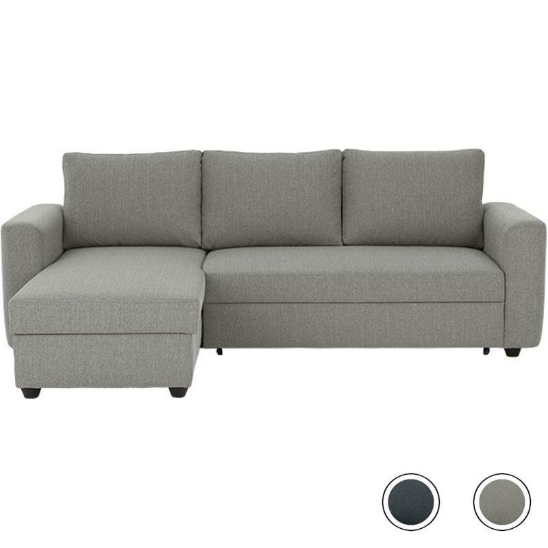 Aidian Corner Storage Sofa Bed Silver Grey Grey Corner Sofa Bed Sofa Bed Grey Corner Sofa