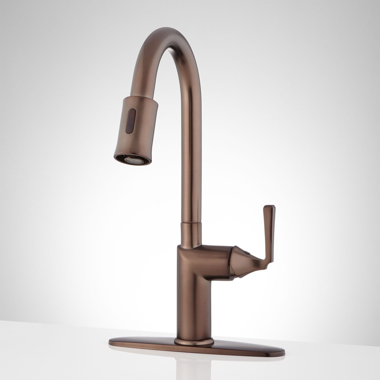 Mullinax Single Hole Touchless Kitchen Faucet With Deck Plate