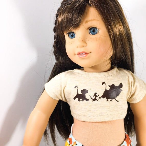 18 inch Doll Clothes - safari graphic crop top