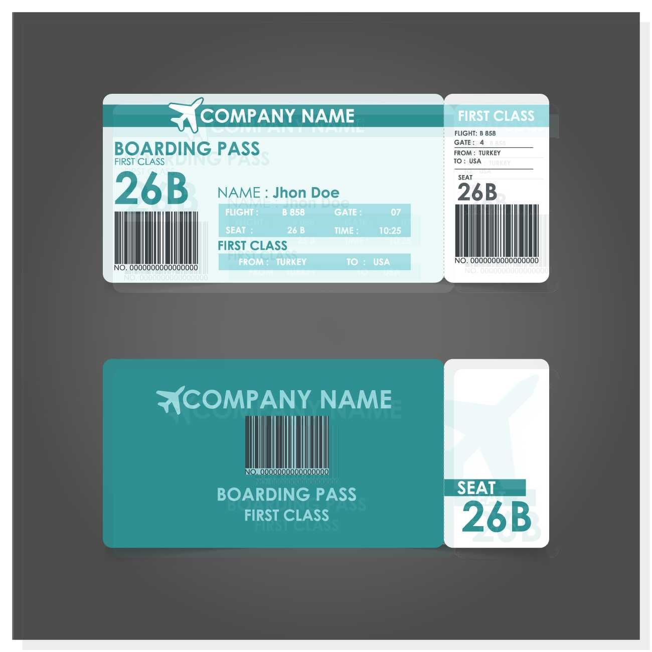 Boarding Pass Template - FREE | Print Templates | Pinterest ...