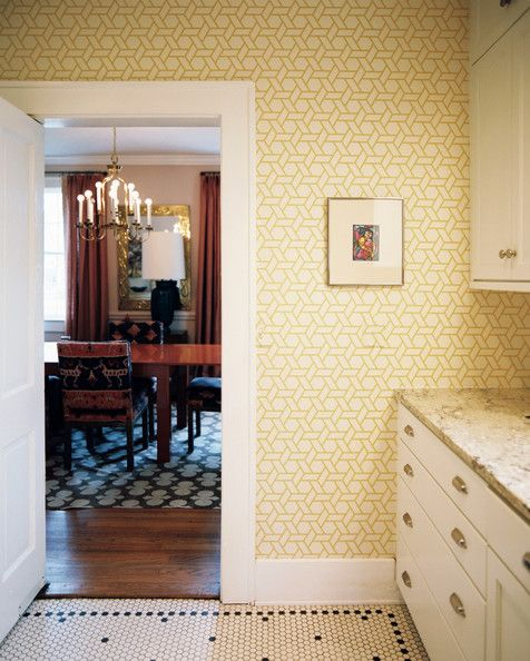 Angie Hranowsky S Tile And Wallpaper Pairing Suggestion For A Sunny Kitchen Yellow