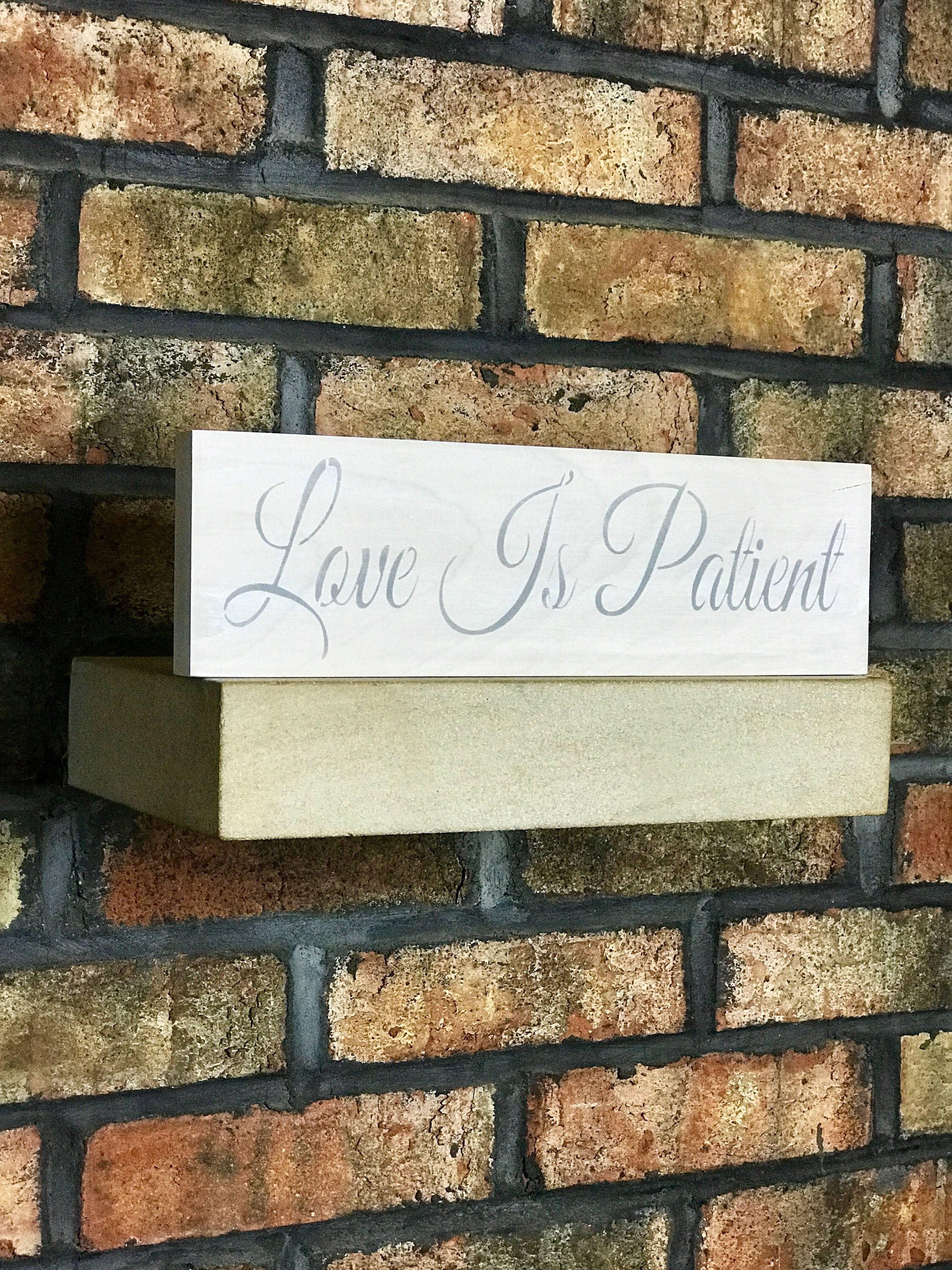 Wood Signs Home Decor Extraordinary Love Is Patienthome Decorwood Signswooden Signswooden Signs 2018