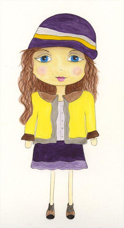Watercolor girl #4 - Lisa