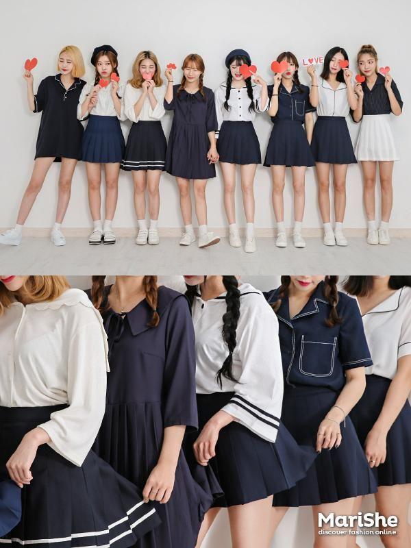 【搭配】韩妞把闺蜜装穿到最高境界,犹如少女偶像团体的姐妹cp装秀恩爱~