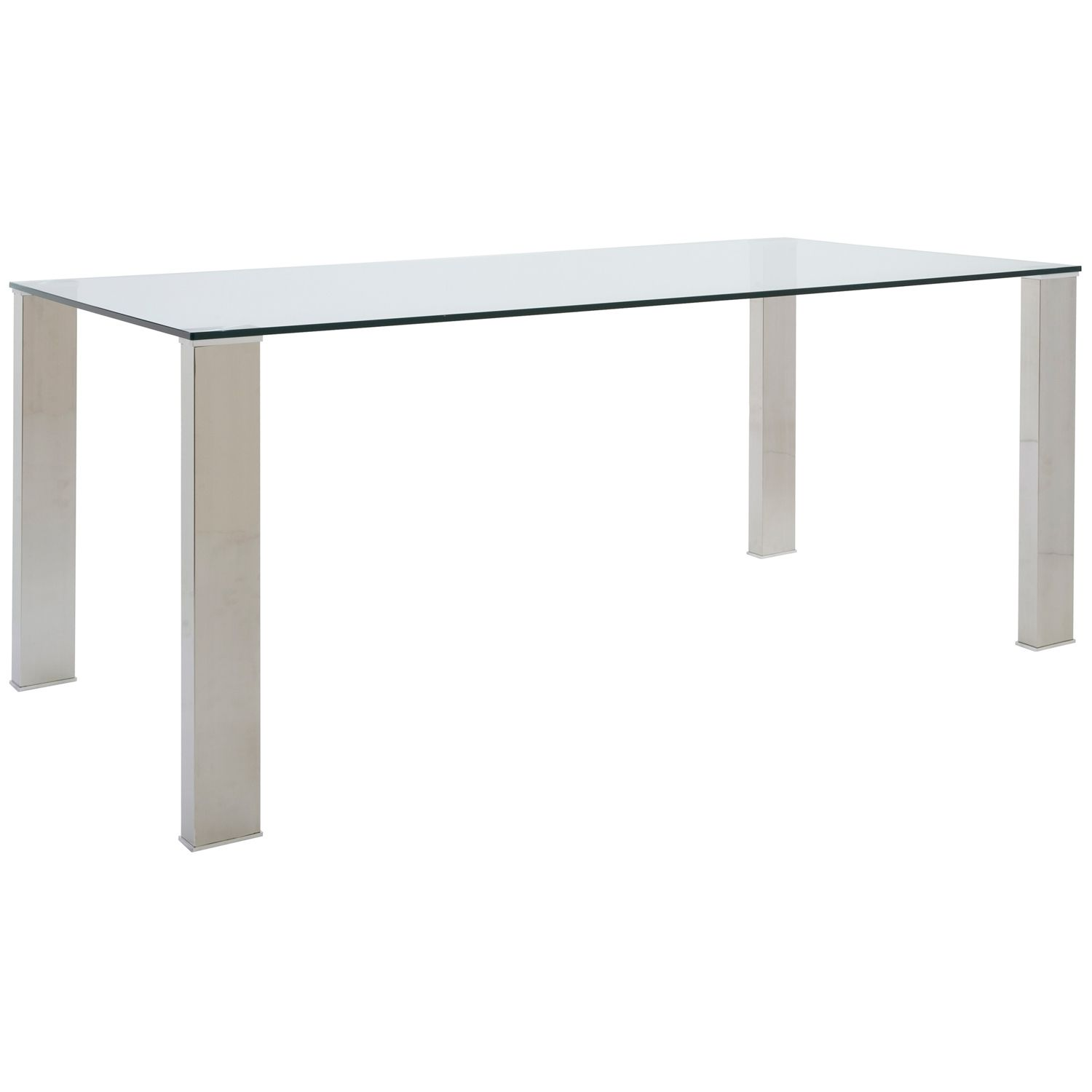 Found it at www.dcgstores.com - ♥ ♥ Beth Dining Table - Stainless Steel Legs, Clear Tempered Glass ♥ ♥