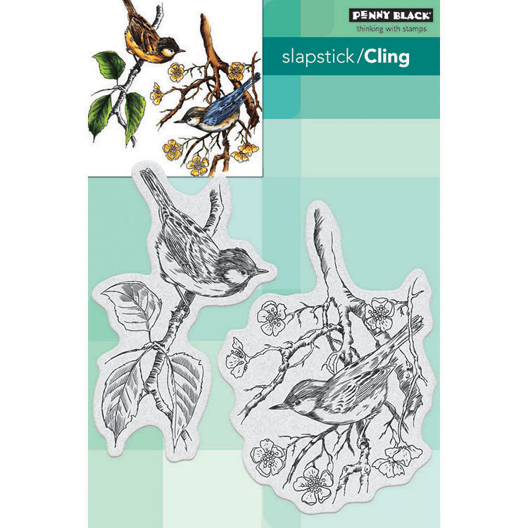 Penny Black Brushstrokes Cling Stamp A Berry Branch 40-631
