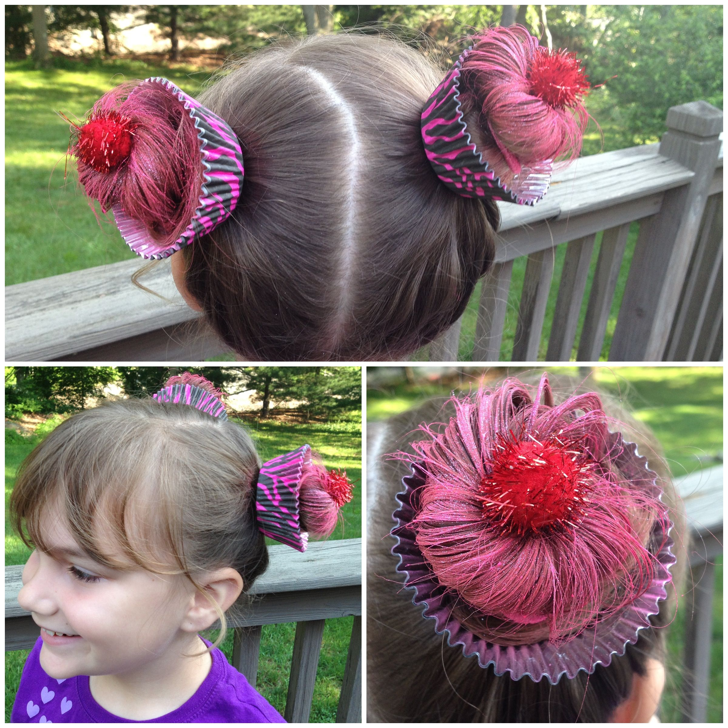"great crazy hairstyles for ""wacky hair day"" at school 