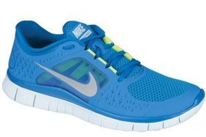 the best attitude e83a1 c44ef The sky blue Nike Free Run. The shoe is the newest, most barefoot version  of the Free technology, which aims to replicate the barefoot ride.