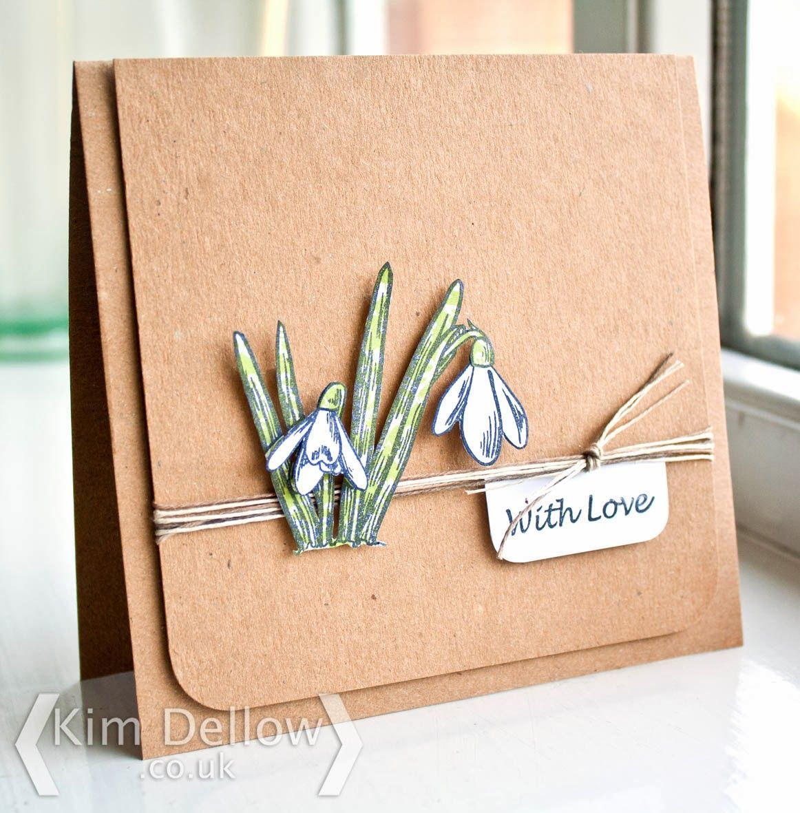 Creative Expressions Papercraft and Scrapbooking Products: Snowdrop Card by Kim Dellow