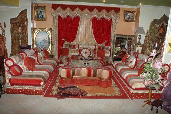Salon Marocain Traditionnel (Rouge et Blanc-cassé) de Hasnae.com ...