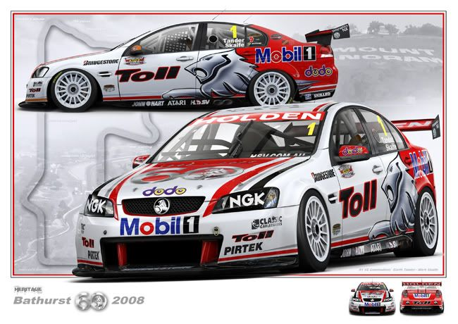 2008 Australian V8 Supercars Holden Commodore Toll Livery Tander Skaife Australian Cars Classic Cars Muscle