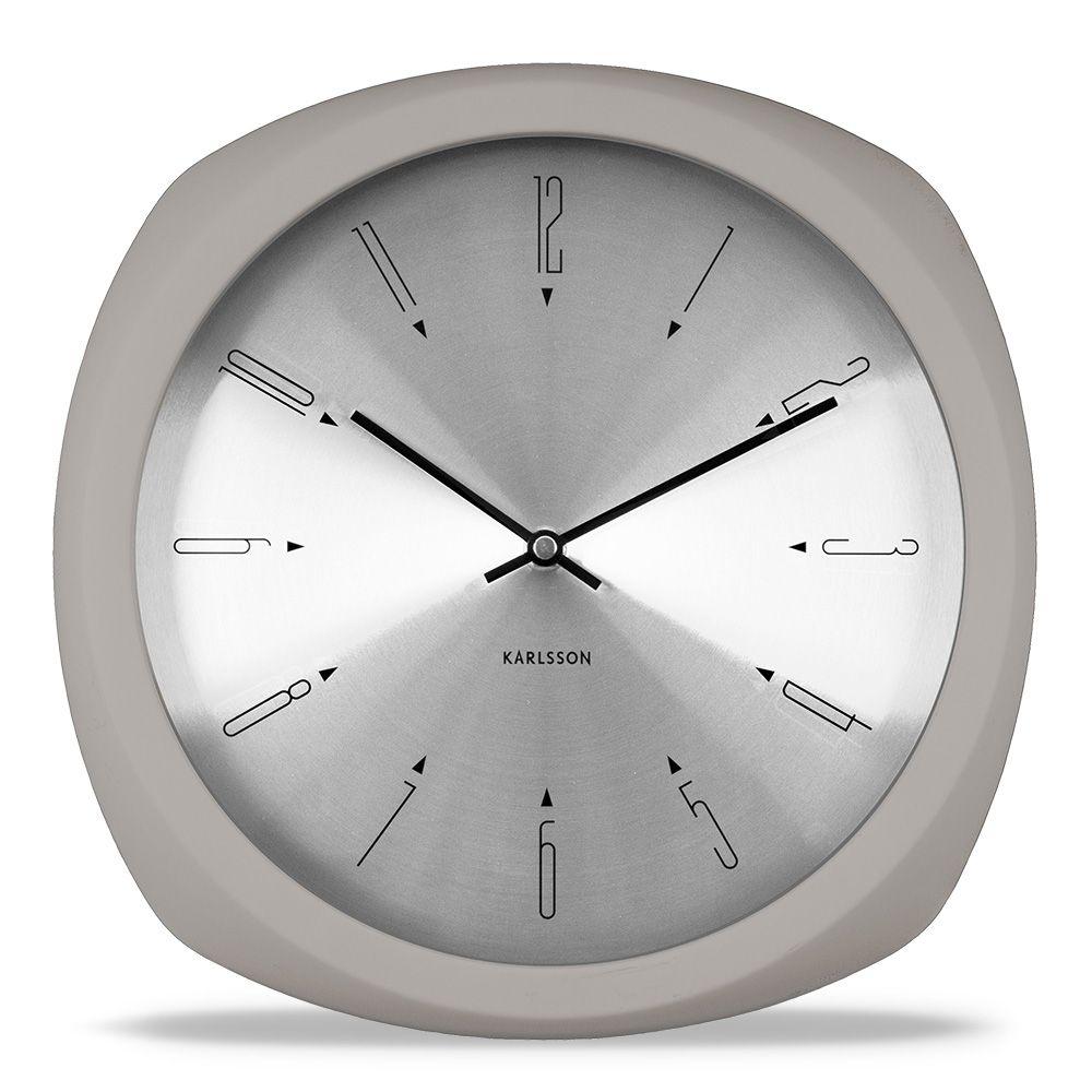 Karlsson Uhren stylische wanduhr in warmgrau aesthetic karlsson uhren