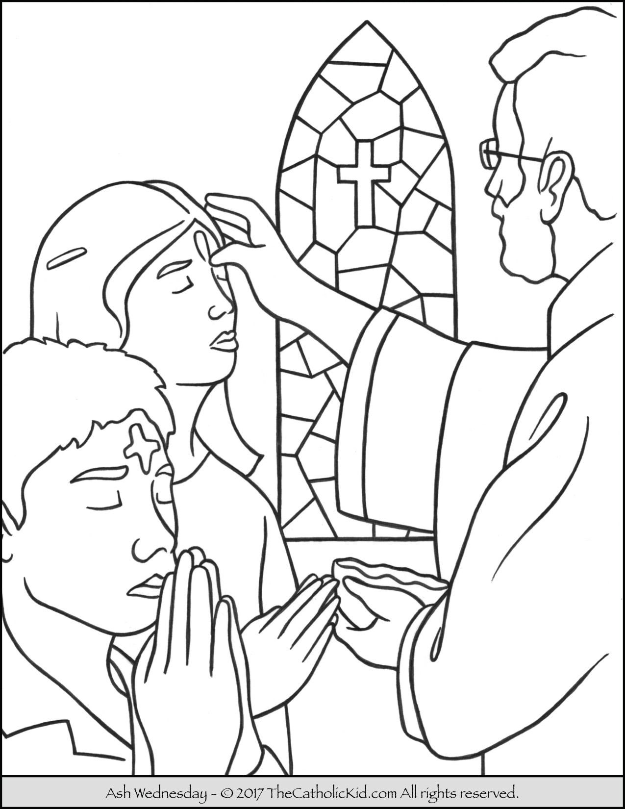 Ash Wednesday Coloring Page Catholic Coloring Pages For Kids
