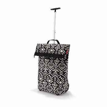 Reisenthel Hopi Shopping Trolley M: The roomy, rolling bag for every day and every use. Comfortable transport on 2 near-effortless rollers. 2-stage telescopic handle tucks away behind a zipper. 1 zipped pocket on the back.
