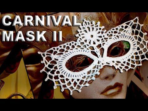 Venetian carnival mask crochet II / Masterpiece / Venezianische ...