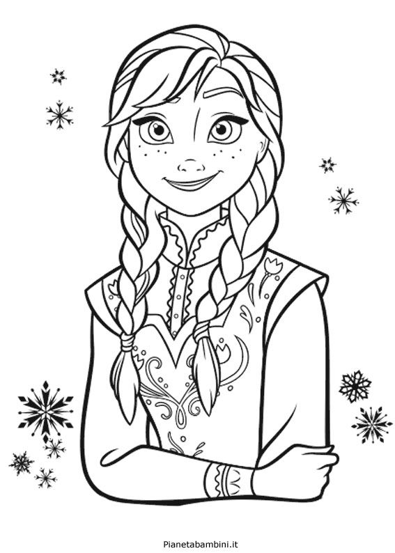 Anna frozen da colorare cerca con google pinakes for Disegni frozen da colorare